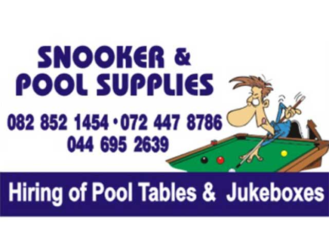 Snooker and pool supplies mossel bay garden route businesses for Gardens pool supply