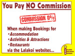 No Commission payable when booking through Lalakoi