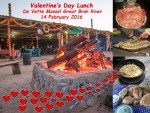 Valentine's Day Lunch at De Vette Mossel Great Brak River