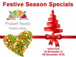 Festive Season Specials at Frozen Foods Factory Shop