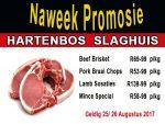 Hartenbos Slaghuis Naweek Promosie Augustus