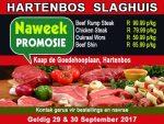 September Slaghuis Promosie in Hartenbos