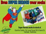 Super Hero Socks available in Hartenbo