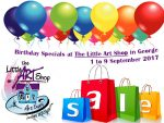 Birthday Specials at The Little Art Shop