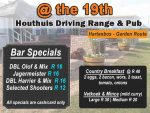 Driving Range Club House Specials in Hartenbos