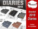 Branded 2018 Diaries available from Supplier in Mossel Bay
