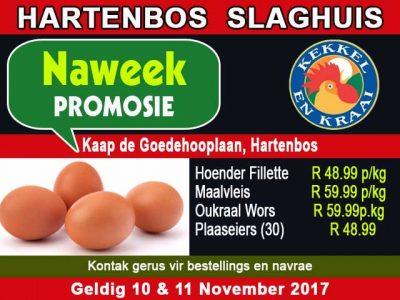 Kekkel en Kraai Hoender Promosie in Hartenbos
