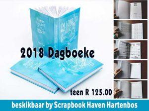 2018 Dagboeke beskikbaar in Hartenbos