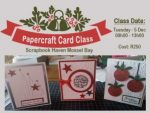 Card Making Class at Scrapbook Haven in Mossel Bay