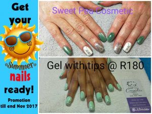 Summer Nail Promotion on Gel and Acrylic Nails in Mossel Bay