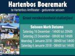 Hartenbos Boeremark Seisoen Mark Datums