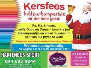 Kersfees Inkleurkompetisie in Hartenbos