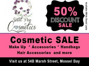50 % Discount on Cosmetics in Mossel Bay
