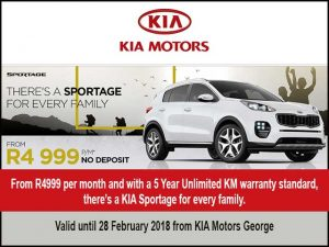 Sportage Special at KIA Motors George