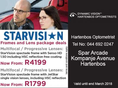 StarVision Frames and Lens Package Deals in Hartenbos