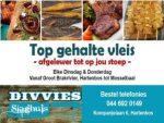 Slaghuis Lewer Nou af in Hartenbos en omgewing – GRATIS