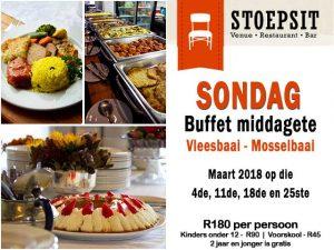 Sondag Buffet Middagetes Vleesbaai Mosselbaai