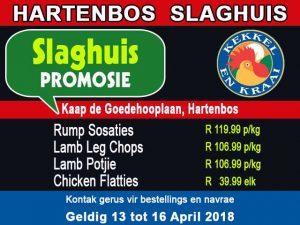 Hartenbos Slaghuis Promosie 13 April 2018