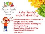 April 3-Day Specials on Frozen Vegetables in George