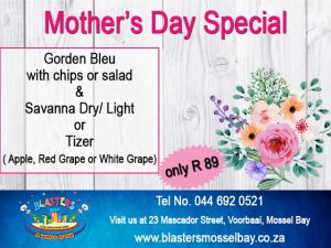 Mother's Day Eating Out Special Offer in Mossel Bay