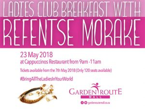 Refentse Coming to the Garden Route Mall