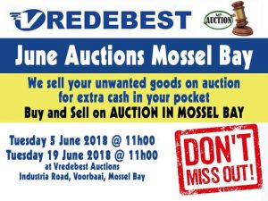 June Auction Dates in Mossel Bay