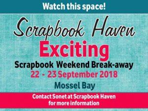 Scrapbook Weekend Break-away Event in Mossel Bay