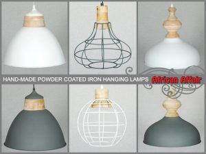 Hand-Made Iron Hanging Lamps in South Africa