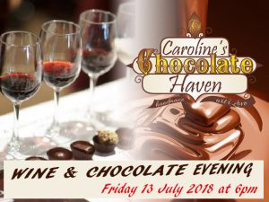 Chocolate and Wine Pairing in Wilderness