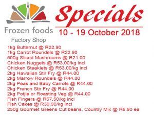 Frozen Foods October 2018 Mid Month Specials