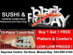 Black Friday Sushi and Chinese Food Mossel Bay