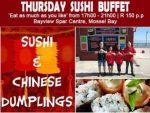 Thursday Sushi Buffet in Mossel Bay
