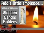 Supplier of Wooden Candle Holders in South Africa