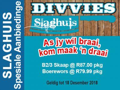 Desember Braai Promosie by Slaghuis in Hartenbos