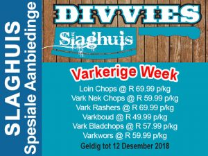 Varkerige Week Slaghuis Promosies in Hartenbos