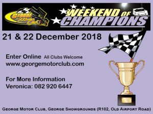 George Motor Club December 2018 Racing