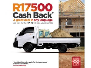 Buy a KIA K2 and get Cashback