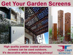 Powder Coated Aluminum Garden Screens in George