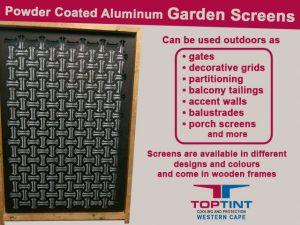 Aluminum Garden Screens in George