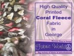 Printed Coral Fleece Fabric in George