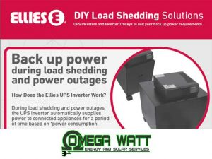 Back Up Power During Load Shedding in Mossel Bay