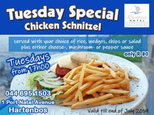 Tuesday Chicken Schnitzel Special Hartenbos