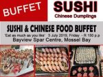 Mossel Bay Sushi Buffet 5 July 2019