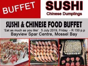 Mossel Bay Sushi Buffet 5 July 2019