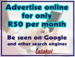 Advertise your Business Online for only R50 per month
