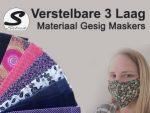 Beskermende Materiaal Gesig Maskers in George