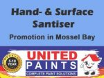 Hand- and Surface Sanitiser Promotion Mossel Bay