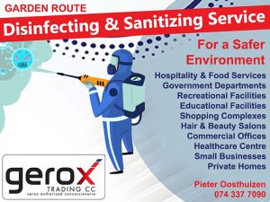 Garden Route Disinfecting and Sanitizing Service