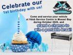 Celebrate Vdub Service Centre's 1st birthday and win!