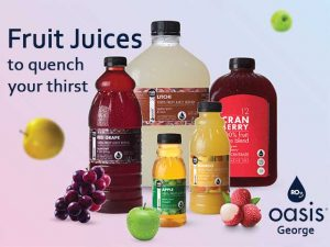 Fruit Juices available at Oasis Water George